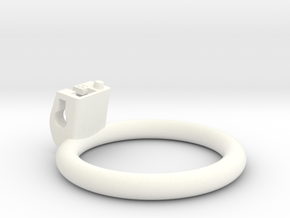 Cherry Keeper Ring - 51mm Flat in White Processed Versatile Plastic
