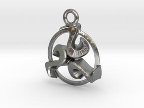 Triskele celtic pendant in Natural Silver