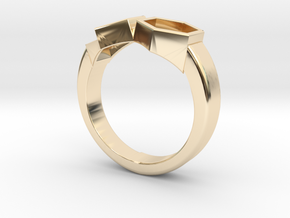 Everything And Nothing Ring (size 10) in 14k Gold Plated Brass