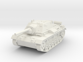 SU-76 i 1/87 in White Natural Versatile Plastic