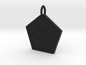 Boccob Symbol in Black Natural Versatile Plastic