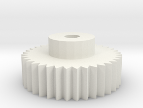 4mm encoder gear in White Natural Versatile Plastic