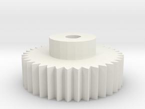 4mm encoder gear in White Natural Versatile Plastic