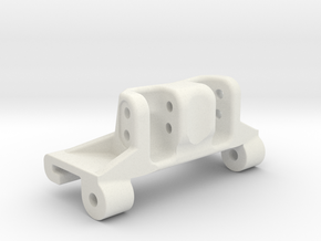 Capra rear axle link mount riser in White Natural Versatile Plastic