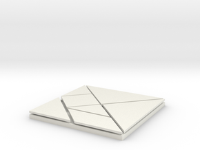 Tangram in White Natural Versatile Plastic