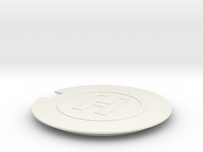 Helipad 1/56 in White Natural Versatile Plastic