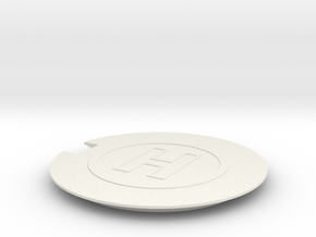 Helipad 1/144 in White Natural Versatile Plastic