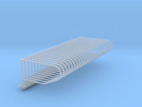 1/64 25x single Post freestall stalls   in Smooth Fine Detail Plastic