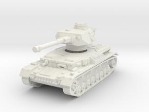 Panzer IV G 1/100 in White Natural Versatile Plastic
