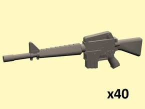 28mm M16A1 rifles in Smoothest Fine Detail Plastic