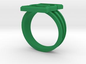Custom Green Lantern Ring Size 14 in Green Processed Versatile Plastic