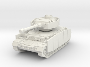 Panzer IV G (Schurzen) 1/87 in White Natural Versatile Plastic