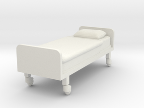 Hospital Bed (flat) 1/35 in White Natural Versatile Plastic