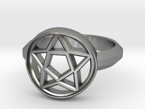 Ring of pentecals in Natural Silver: 8 / 56.75