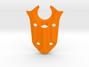 Black Knight's Shield in Orange Processed Versatile Plastic