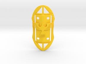 The Hero's Shield in Yellow Processed Versatile Plastic