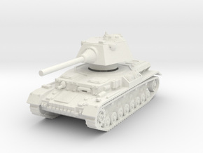 Panzer IV S 1/100 in White Natural Versatile Plastic