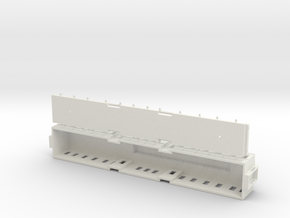The Queen of Swedens railway wagon 1891 – H0-scale in White Natural Versatile Plastic