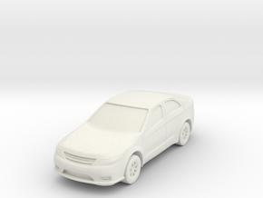"Car at 1""=8' Scale in White Natural Versatile Plastic"
