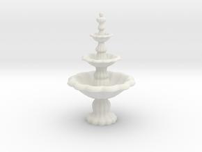 Fountain in White Natural Versatile Plastic: 1:24