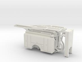 1/87 Spartan SQURT Body Compartment Doors in White Natural Versatile Plastic