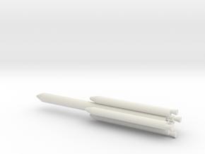 1/1000 Scale Titan III L4 Rocket in White Natural Versatile Plastic