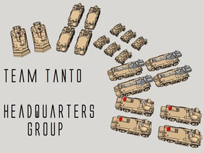 """""""Team Tanto"""" 3mm Armor HQ Section (20pcs) in Smooth Fine Detail Plastic"""