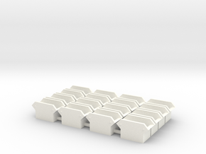 Flared Spark Arrestor (O - 1:48) 16X in White Processed Versatile Plastic
