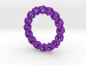 Crossover Thick - Bracelet size M in Purple Strong & Flexible Polished