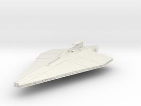 """Republic Assault Ship 5.4"""" in White Natural Versatile Plastic"""