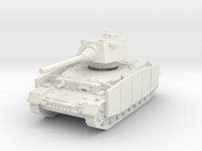 Panzer IV S (Schurzen) 1/120 in White Natural Versatile Plastic
