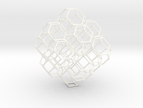 Truncated octahedral lattice in White Strong & Flexible Polished