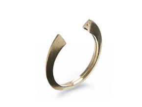 A Ring (slim) in Natural Brass: 7 / 54
