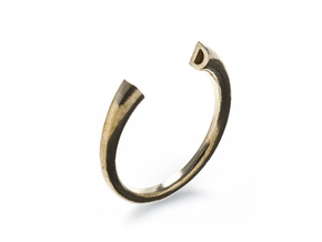 D Ring (slim) in Natural Brass: 7 / 54