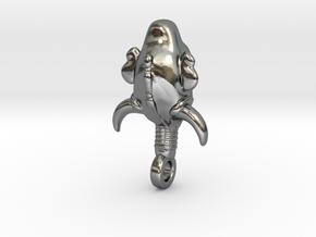 SUPERNATURAL Amulet 3.0cm in Polished Silver