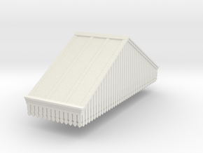 Platform Canopy Section 3 LH - 4mm Scale in White Strong & Flexible