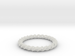 Barred Helix Bangle in Smooth Fine Detail Plastic
