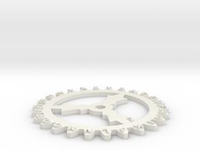 Enigma wheel 3 in White Natural Versatile Plastic