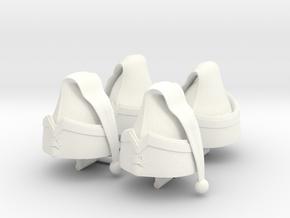 BONNET GENDARME EMPIRE x4  in White Processed Versatile Plastic