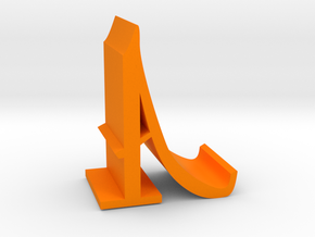 Letter A Mobile Stand in Orange Processed Versatile Plastic