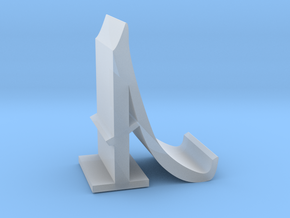 Letter A Mobile Stand in Smooth Fine Detail Plastic