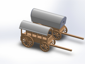 N SUPPLY WAGON, SUPPLY WAGON LOADING in Smooth Fine Detail Plastic