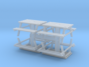 Park Picnic Bench (x4) 1/87 in Smooth Fine Detail Plastic