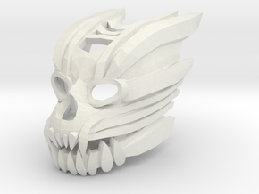 Mask of Biomechanics (Makuta shapeshifted) in White Natural Versatile Plastic