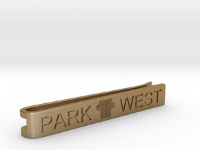 PARK WEST - Men Tie Clip 002 in Polished Gold Steel