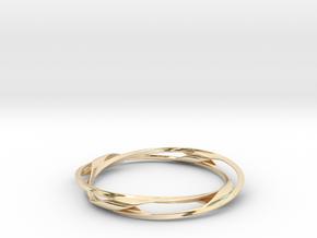Barred Twist Bangle in 14K Yellow Gold