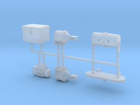 HO Chessie Steam Special Auxiliary Tender Parts in Smoothest Fine Detail Plastic