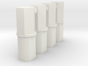 TF 5mm Hex Port to Circle Peg Adapter in White Natural Versatile Plastic