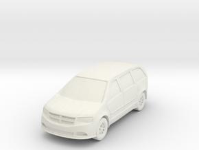 "Minivan at 1""=10' Scale in White Natural Versatile Plastic"