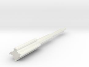 1/100 Scale Iranian ICBM in White Natural Versatile Plastic